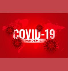 Covid19 novel coronavirus pandemic outbreak vector