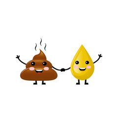 Cute shit and urine vector