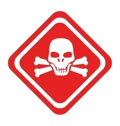 Danger caution advert icon vector