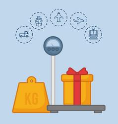 delivery logistics design vector image