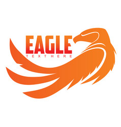eagle emblem vector image