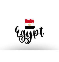 Egypt country big text with flag inside map vector