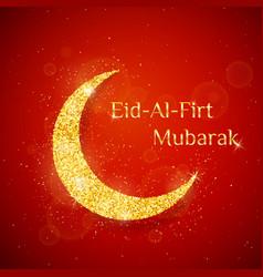 eid al firt background vector image