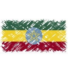 Ethiopian grunge flag vector image