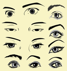 Eyes in comics vector