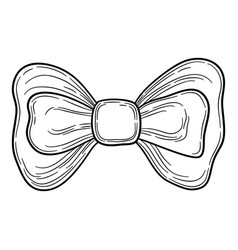fashion man bow tie icon hand drawn style vector image