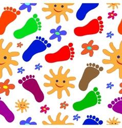 feet seamless pattern vector image