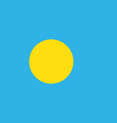 flag of palau vector image