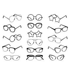 glasses silhouettes modern eyeglasses fashion vector image