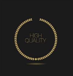 goldel laurel wreath high quality label vector image