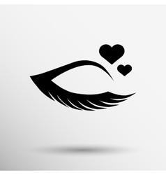 Grunge beautiful female eye vector