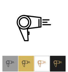 hair dryer blowdryer icon hotel air blowing vector image