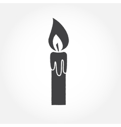 Halloween candle outline icon vector image