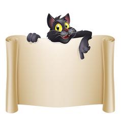 halloween cat banner vector image
