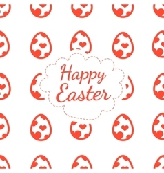 Happy Easter greeting card background color of the vector