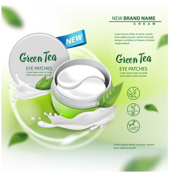 Hydrating under eye gel patches advertising vector