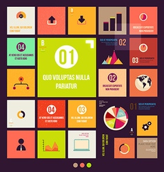 Infographic Template Set vector image