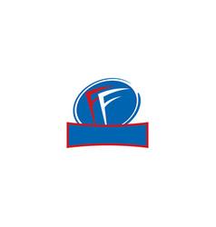 initial ff letter linked logo vector image