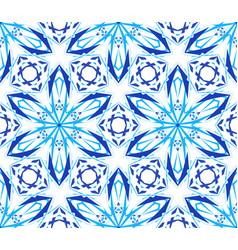 kaleidoscopic pattern light blue flower vector image