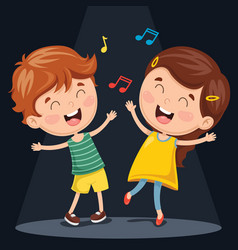 Kids dancing vector
