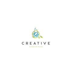 Lab naturally science creative business logo vector