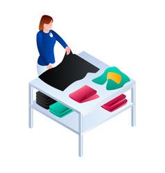 Laundry arrange clothes service icon isometric vector
