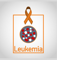 leukemia icon vector image