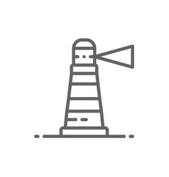 Lighthouse beacon warning sign navigation vector