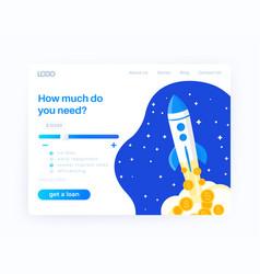 Loan service website design template vector
