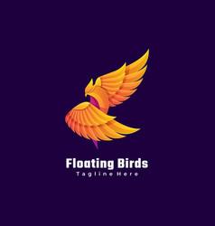 logo bird gradient colorful style vector image