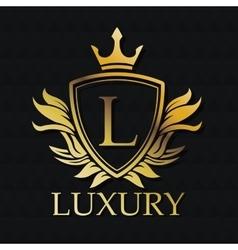 Luxury gold emblem design vector