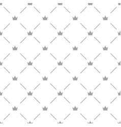 Luxury seamless pattern with silver crowns vector