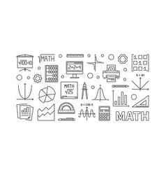Math education concept horizontal banner vector