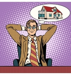 Mens dream home vector image