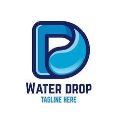 modern drop letter d logo vector image