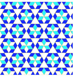 Muslim geometric pattern in blue green and white vector