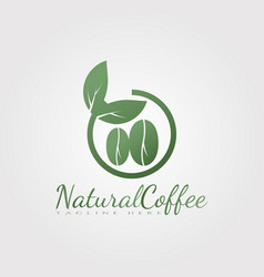 Natural coffee logo design food and drink icon vector