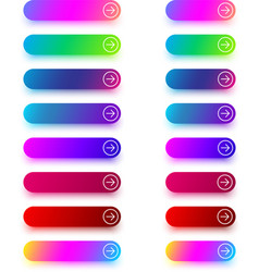 next icon templates with arrow isolated on white vector image
