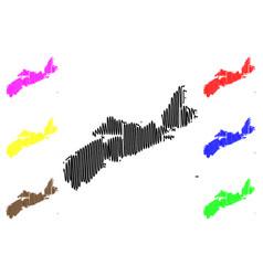 nova scotia canada map vector image