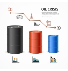 Oil Industry Crisis Graph Concept vector image