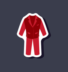 Paper sticker fashion clothes men business suit vector