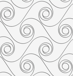 Perforated horizontal winding spirals vector image
