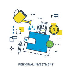 Personal investment and investment growth vector
