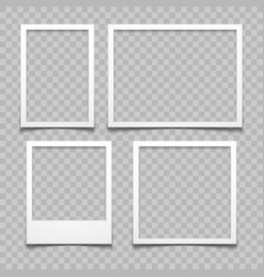 photo frames with realistic drop shadow vector image vector image