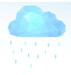 polygonal cloud vector image