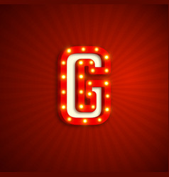 retro style letter g vector image