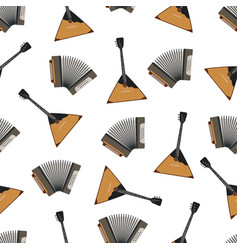 russian musical instruments iilustration vector image