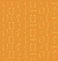 seamless pattern with punctuation marks vector image