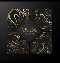 set of marble design templates background vector image