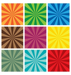 Set of Sun Sunburst retro Pattern vector